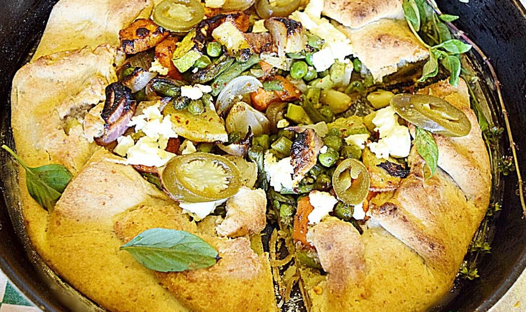 Paneer and Vegetable Galette