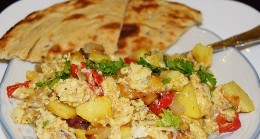Khagina, Spicy Egg and Potato Scramble