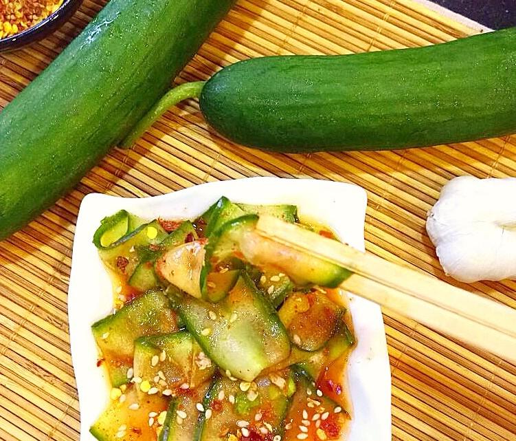 Instant Korean Pickled Cucumber