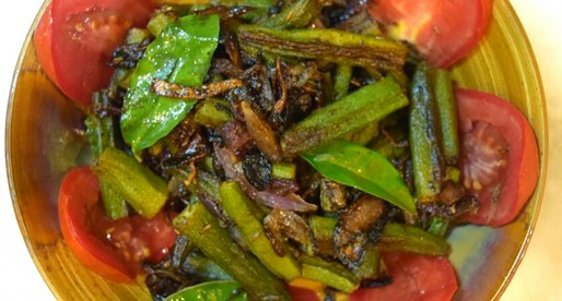 Bhindi Do Pyaza, Okra Onion Stir fry