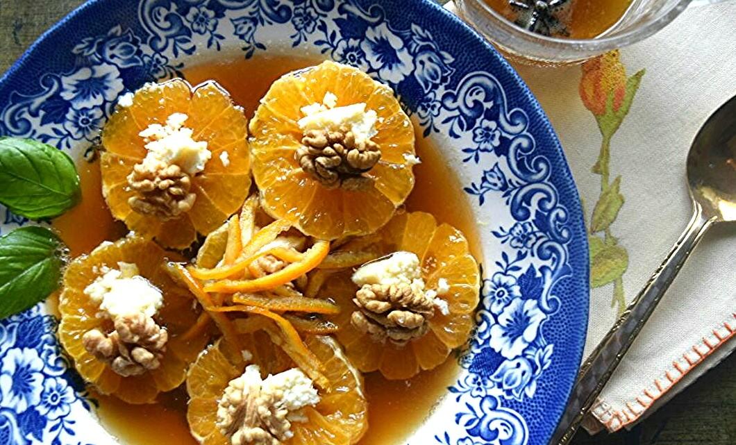 Sliced Oranges in Rose Syrup