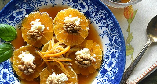 Sliced Oranges in Rose Syrup