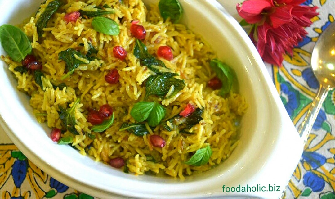 Easy One-pot Mint Pulao
