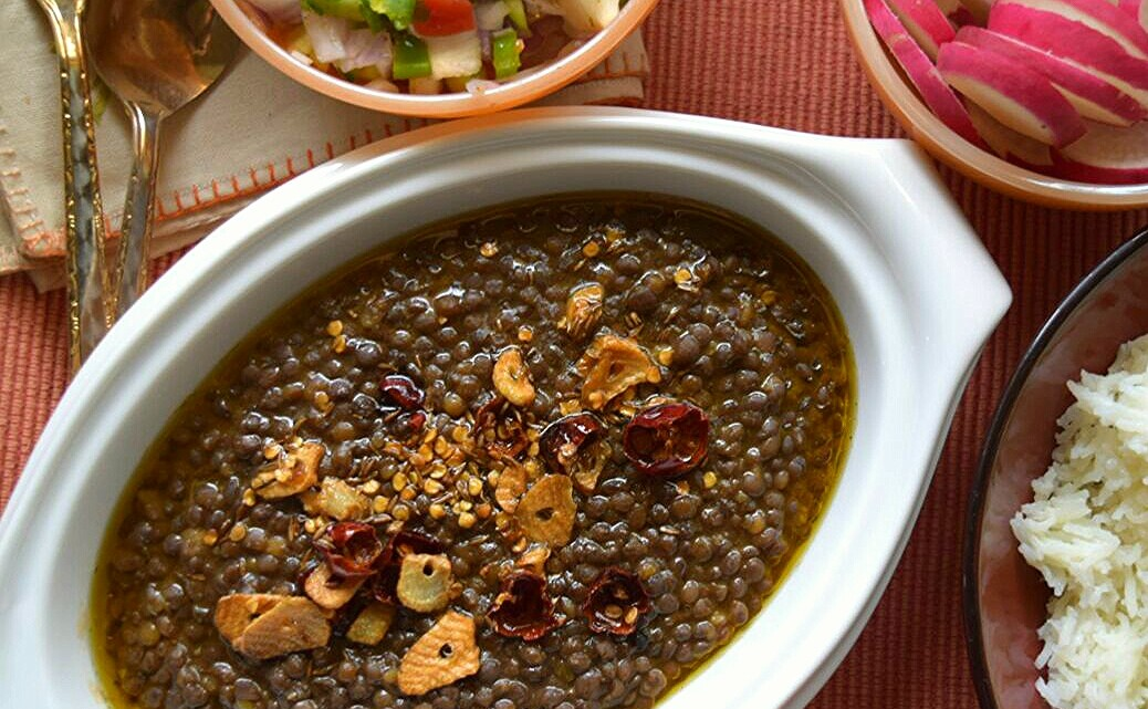 Sabut Masoor Dal, Creamy Brown Lentils
