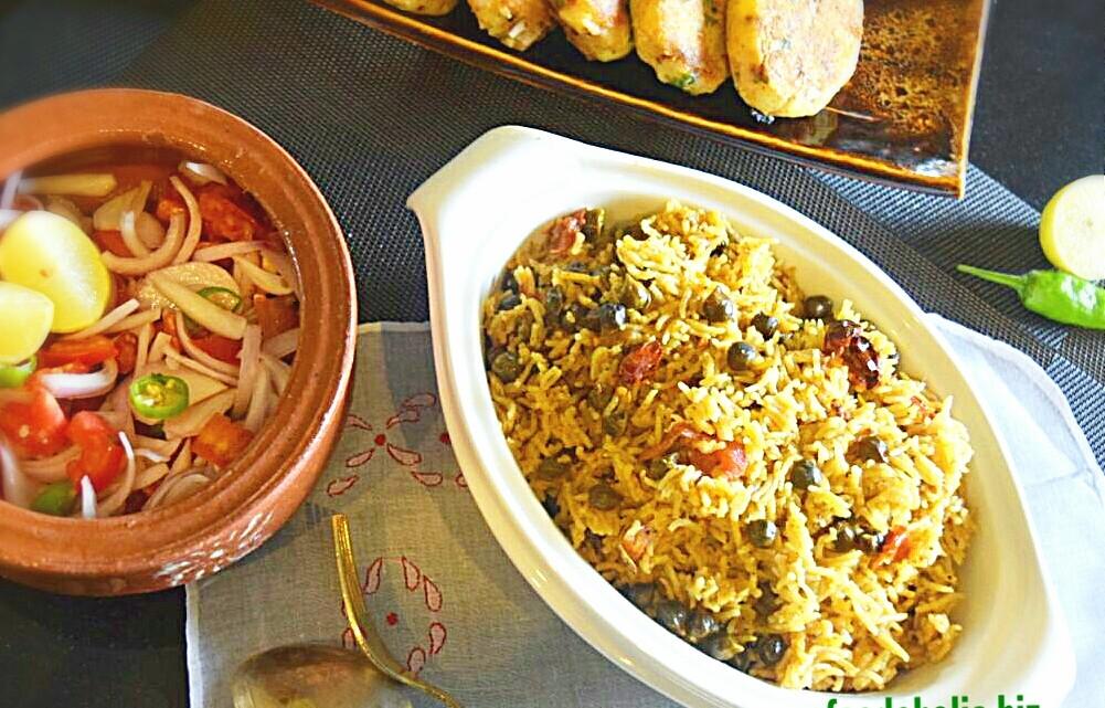 Choliya Pulao, Green Chickpeas & Rice