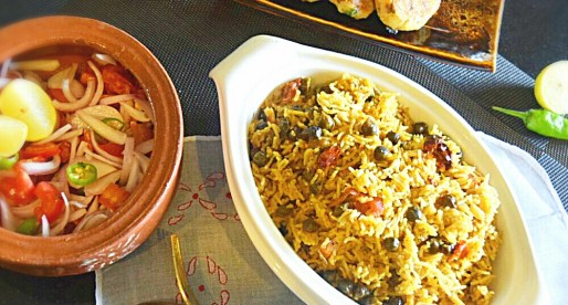 Choliya Pulao, Green Chickpeas & Rice