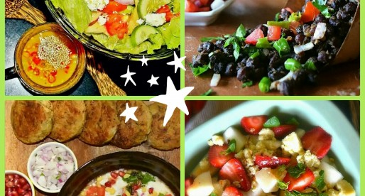 Spicy Chaat and Fruit Salad Recipes