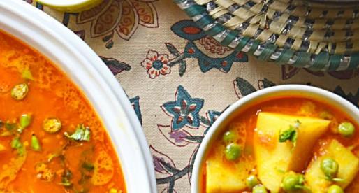 Aloo Matar, Potatoes & Peas Curry